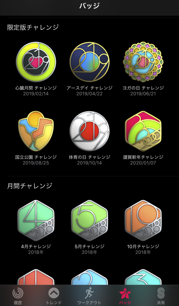 Apple Watchのバッジ